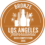 2015 LA International Beer Competition Bronze Medal